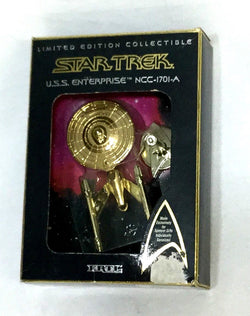 1994 Spencer Gifts Gold Ertl Star Trek USS Enterprise NCC-1701-A MISB Boxed NEW