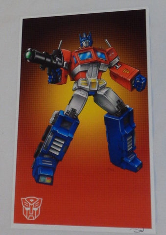 G1 Transformers Autobot Optimus Prime Poster 11x17 Box Type Masterpiece FREESHIP