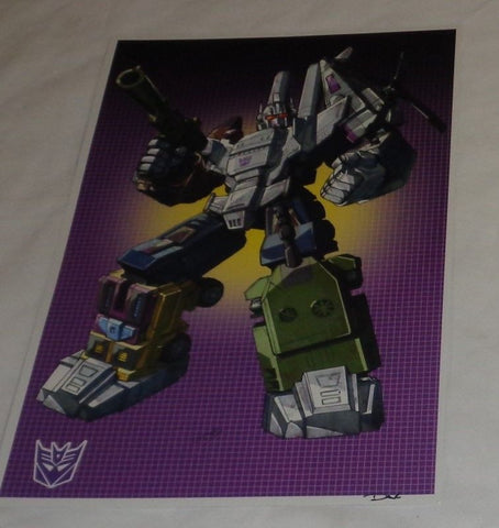 G1 Transformers Decepticon Combaticons Bruticus Poster 11x17 Box Art Grid