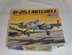 Monogram 1:48 Scale B-25J Mitchell Plastic Aircraft Model Kit WWII US Army Corps