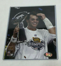 Super Bowl 38 Champions New England Patriot Tom Brady Trophy Picture Photo 8x10