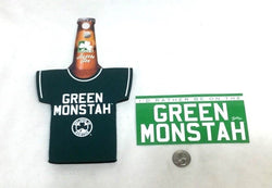Boston Fenway Park Green Monster Monstah Red Sox Bottle Coozie & Sticker Lot