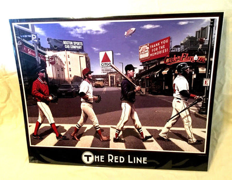 The Red Line Red Sox Wall Print Poster 16x20 Player Parody Ortiz Yaz Pedro Ted