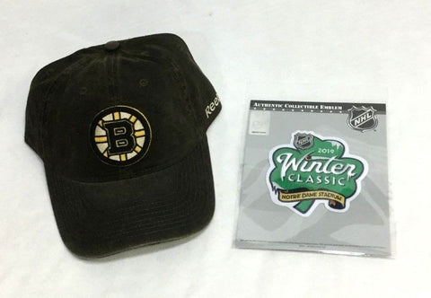 NHL Boston Bruins 2019 Winter Classic Patch Adjustable Retro Hat Cap Lot FREESHP