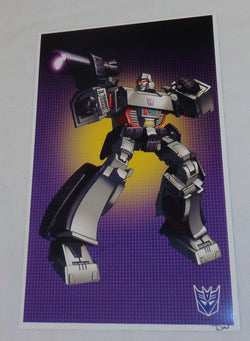 G1 Transformers Decepticon Megatron Poster 11x17 MasterPiece Type FREESHIPPING
