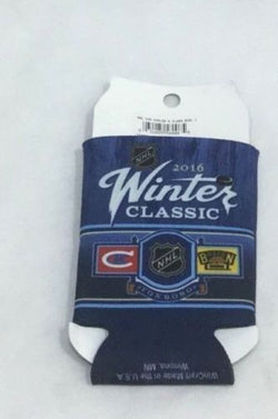 Montreal Canadiens Boston Bruins 2016 Winter Classic Duel Logo Beer Can Coozie