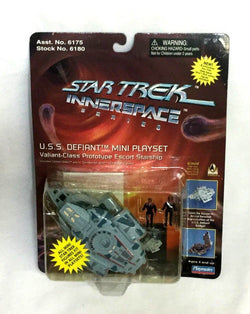 1996 Playmates Star Trek Innerspace Series USS Defiant Mini Playset MOC Sealed