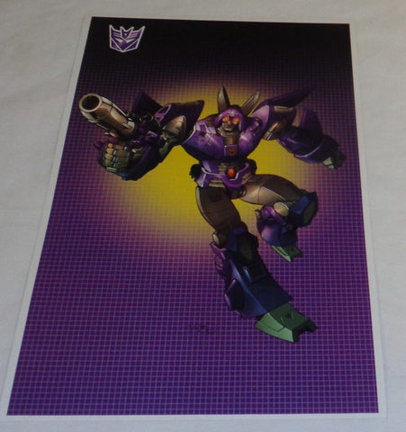 G1 Transformers Decepticon Cyclonus Poster 11x17 Box Art Grid FREESHIP