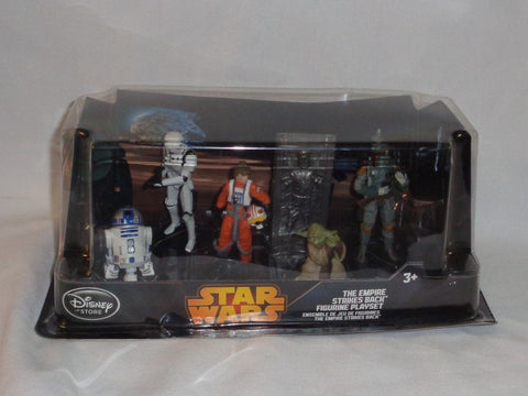 Disney Star Wars ESB Bespin 6 Piece Figure Set Fett Yoda Luke R2D2 Frozen Han