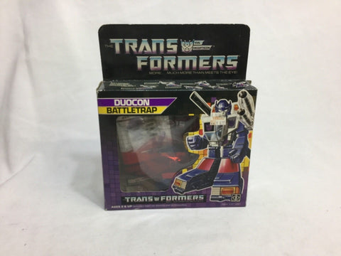 1987 Vintage G1 Transformers Battletrap Duocon Boxed Complete FREESHIPPING
