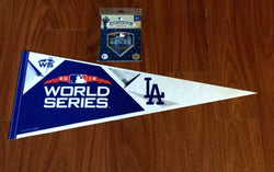 2018 World Series NL Champions Los Angeles Dodgers Pennant Jersey Patch Lot