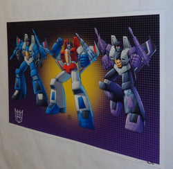 G1 Transformers Decepticon Starscream Skywarp Thundercracker Poster 11x17