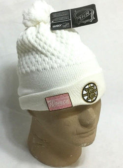 NHL Official Boston Bruins Womens Ladies Winter Knit Cap Hat Beanie Pom Pom NEW