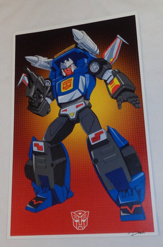 G1 Transformers Autobot Tracks Poster 11x17 Box Art Grid FREESHIPPING