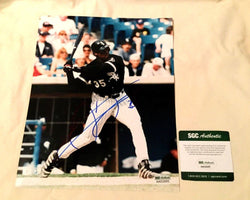 Chicago White Sox HOF Frank Thomas Autographed Signed 8x10 Picture SGC Cert