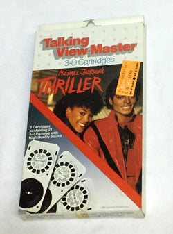 Michael Jackson Thriller Talking View Master Viewmaster Cartridge Set Sealed NEW