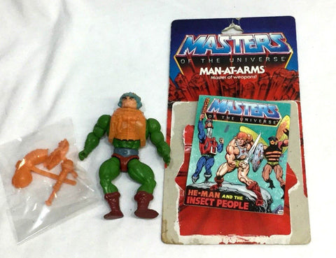 1982 Mattel He-Man MOTU Man-At-Arms Figure Complete Cardback Comicbook FREESHIP