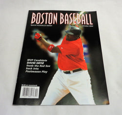 2004 ALDS Division Series Boston Baseball Red Sox Program Scorecard David Ortiz