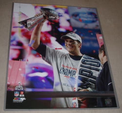 New England Patriots Superbowl 49 MVP Tom Brady Trophy 16x20 Picture FREESHIP