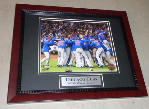 2016 World Series Champions Chicago Cubs Framed Matted Picture 13x16 Size FREESP