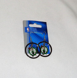 New NBA Boston Celtics Earrings Pair Loop Hoops Dangle Type Garden FREESHIP