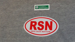 Fenway Park Boston Red Sox Nation RSN Oval Logo Bumper Sticker Decal (R) FREESHP