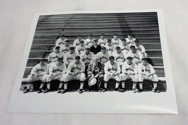1937 PCL San Diego Padres Minor League Ted Williams Team Picture 8x10 Red Sox