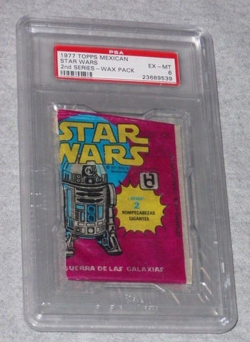 1977 Topps Mexican Mexico Star Wars Series 2 Wax Pack PSA 6 Sealed R2D2 FREESHIP