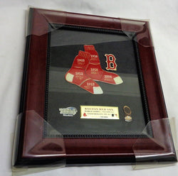 Boston Red Sox 2004 World Series Champions Framed Limited #9 Pin Set Trophy