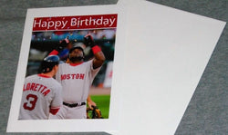 RARE Boston Red Sox #34 David Ortiz Big Papi Happy Birthday Card Envelope RARE