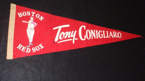 RARE Vintage 1967 Boston Red Sox Pennant Tony Conigliaro Fenway Park FREESHIP