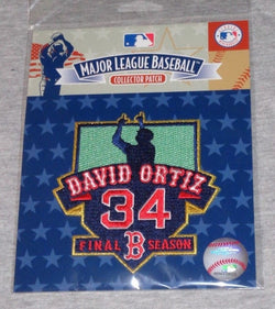 Boston Red Sox David Ortiz Final Season Jersey Patch Retirement Logo FREESHIP