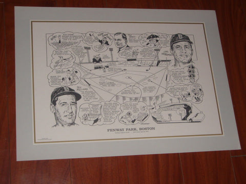 1990 Sporting News Boston Red Sox Fenway Park 16X22 Litho Print Poster FREESHIP