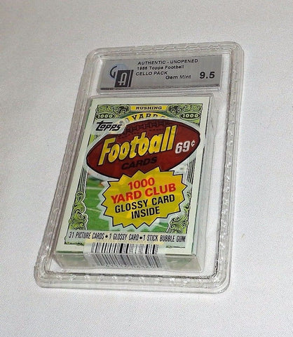 1986 Topps Football Cello Pack GAI 9.5 PSA ? NFL Rice or Young Rookie Sealed