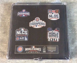 Chicago Cubs 2016 World Series Champions 5 Pin Set Limited Edition FREESHIP