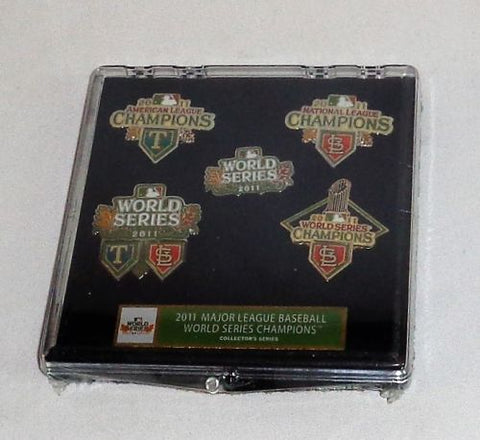 St Louis Cardinals 2011 World Series Champions 5 Pin Set Limited (A) FREESHP