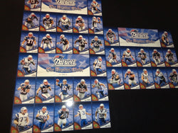 2007 New England Patriots Boston Globe Uncut Sheet Upper Deck Card Set Brady