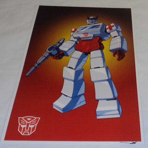 G1 Transformers Autobot Ratchet Poster 11x17 Box Art Grid FREESHIPPING