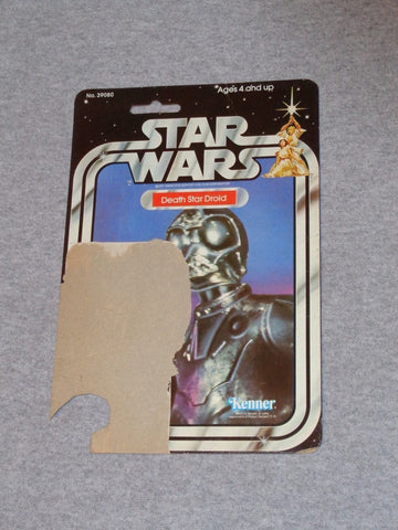 1978 1979 Star Wars Death Star Droid 21 Back Cardback Card Vintage FREESHIP