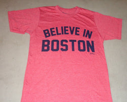 Fenway Red Sox Version Boston Believe in Boston T Shirt Size Large FREESHIP
