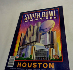 Super Bowl 38 Program New England Patriots Carolina Panthers Tom Brady MVP