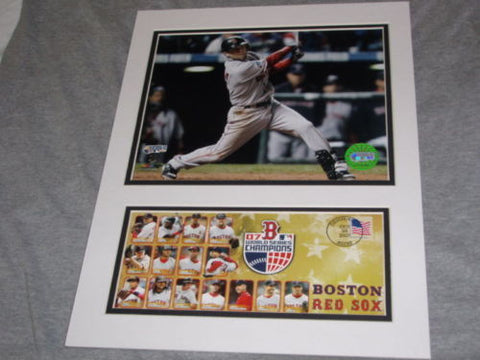 2007 World Series Boston Red Sox Dustin Pedroia 8x10 Picture Cachet Set FREESHIP