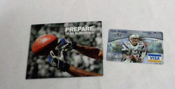 New England Patriots Superbowl MVP Tom Brady Credit Card Promo Visa Folder RARE