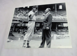 1957 Yankee Stadium Boston Red Sox Ted Williams Interview Picture 8x10 Photo
