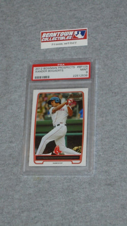 2012 Bowman Prospects Baseball Boston Red Sox Xander Bogaerts Rc PSA 9 Mint