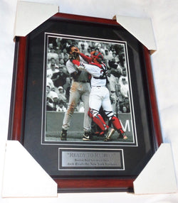 2004 Fenway Park Red Sox Yankees Arod Varitek Fight Brawl Framed Picture 13x16