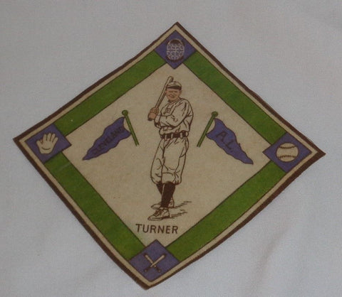 Vintage 1914 B18 Blankets Cleveland Terry Turner Purple Green Infield FREESHIP