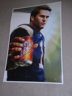 New England Patriots Tom Brady Can of Whup Ass Poster Picture 12x18 FREESHIP