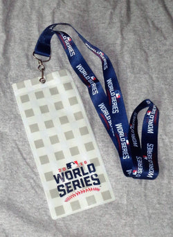 2016 World Series Ticket Lanyard Pin Chicago Cubs Cleveland Indians FREESHIP