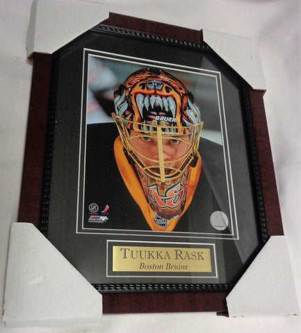 Boston Bruins Tuukka Rask Goalie Mask Bear Framed Picture 13x16 FREESHIP